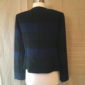 Tahari Jackets & Coats - Tahari ASL Blue Black Grey Striped Blazer Sz 6